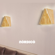 Nordic LED Wall Lamp Wood Bedside Reading Living Room Decor Bedroom Wall Light Dining Room Loft Cafe Art Wall Sconce Corridor modern nordic round full moon led wall lamp bedside light child bedroom living room sconce light fixture wall decor art white