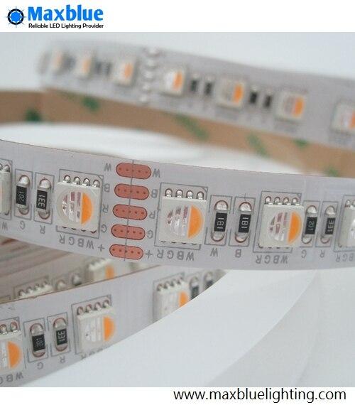 SMD5050 RGBW LED Strip 5meter 24Vdc CRI 80+Ra 84leds/m 4 in 1 5050smd LED Ribbon Tape Light Free Shipping