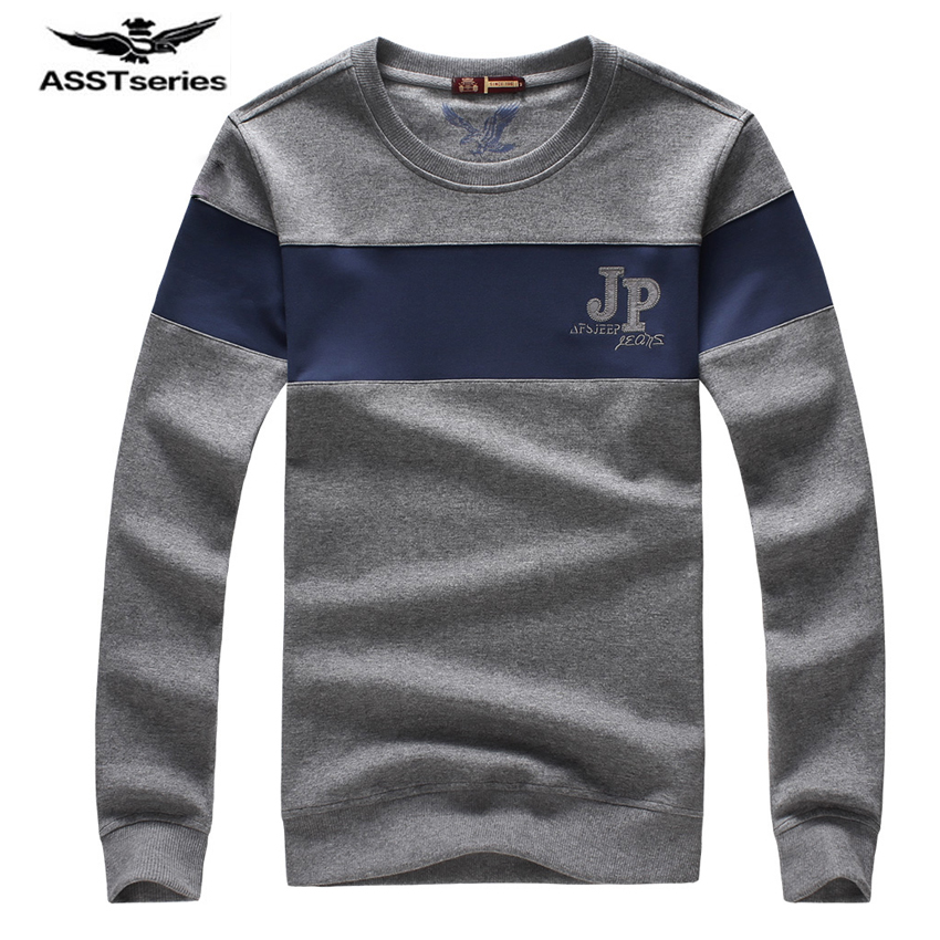 AFS JEEP Brand 2017 New Long Sleeve hoodies sweatshirt men cotton round collar cool casual Male Sweatshirts men 60cy