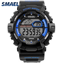 SMAEL Digital Fashion Sports Watch Men Luxury Top Chronograph Watches Led Chronograoh Alarm Black Wristwatches Montre Homme 1527