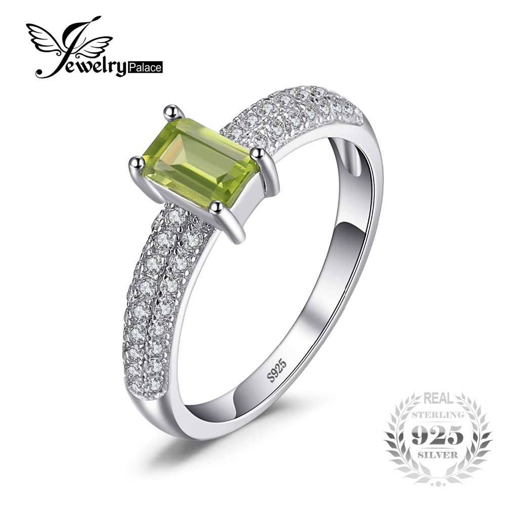 peridot wedding rings jewelrypalace classic 0 87ct emerald cut peridot 6465