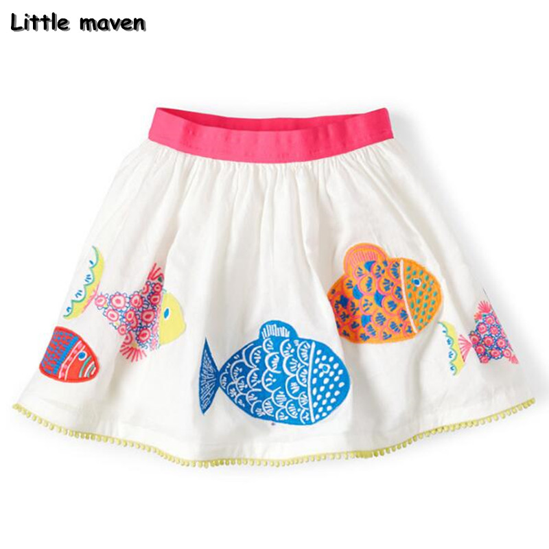 Little maven 2017 new summer baby girl clothes fish print
