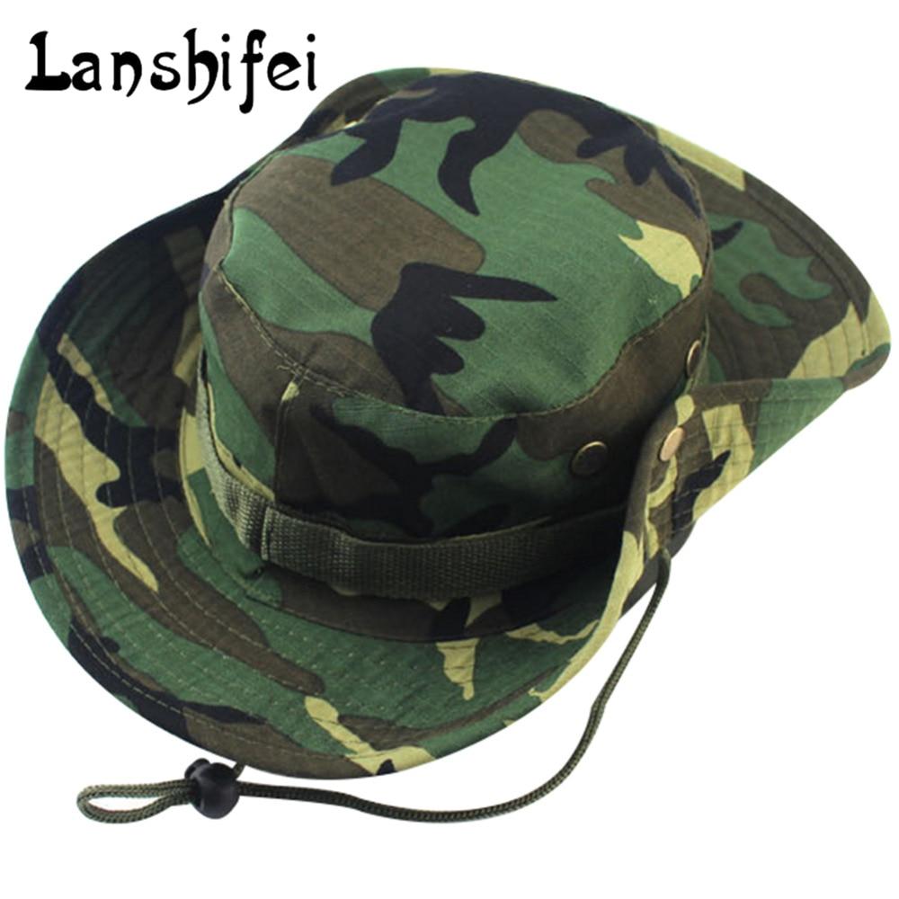 141f4f0ac81ed ... Fishing Hat Styles  Military Camouflage Bucket Hats Jungle Camo  Fisherman Hat