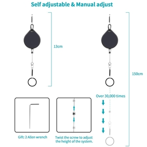 Image 2 - Vr Retractable Cable Management System,Virtual Reality Wire Cord Ceiling Management Accessories For Htc Vive/Htc Vive Pro/Ocul