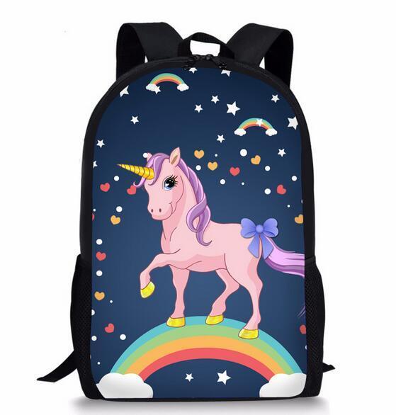 Joyloading Boys Girls Cartoon Unicorn Design Backpack Students Preppy  Schoolbag Kids Bag 4f5d1c6534