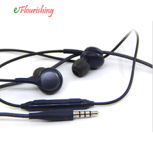 Para Samsung Galaxy S8 Plus S7 S6 Nota Borda 8 7 5 4 Baixo Microfone + Controle de Volume do Fone De Ouvido Fones de Ouvido 3.5mm fone de Ouvido Estéreo Intra-auricular