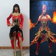 Dota 2 Lina Inverse Cosplay Costume Custom Made Any Size