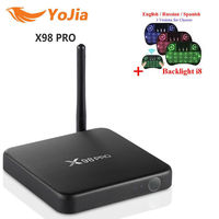Yojia X98 PRO Amlogic S912 Android 6.0 TV Box 2GB/3GB 16GB/32GB Octa Core x98pro Metal Box 4K Smart Set top box PK T95Z plus H96