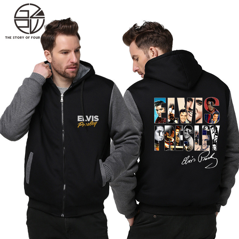 Gzpw cosplay elvis presley 2018 winter Cashmere thickening men and women Loose coat sets M-5XL