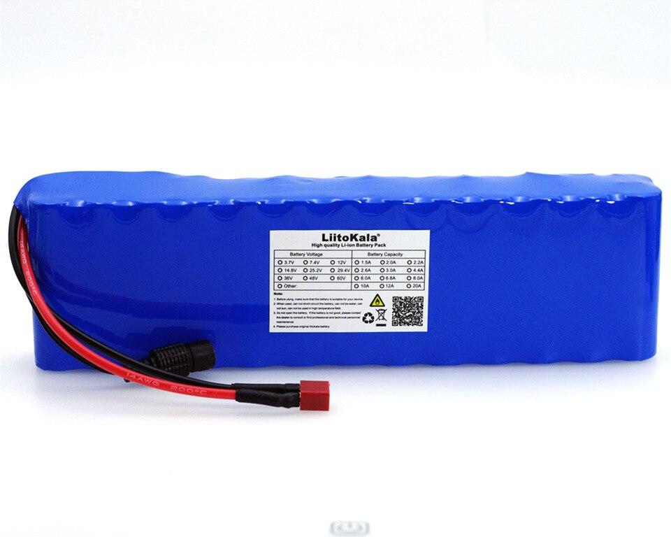 LiitoKala 48 v 5.2ah 13s2p haute puissance 18650 moto électrique batterie véhicule batterie électrique bricolage 48 v BMS Protection - 3