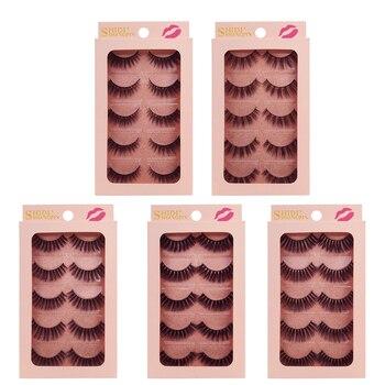 YSDO Lashes 5 pairs mink eyelashes natural long 3d mink lashes hand made false eyelashes full strip lashes makeup false lashes 1
