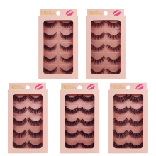 YSDO Lashes 5 pairs mink eyelashes natural long 3d lashes hand made false full strip makeup