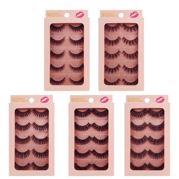 YSDO Lashes 5 pairs mink eyelashes natural long 3d mink lashes hand made false eyelashes full strip lashes makeup false lashes