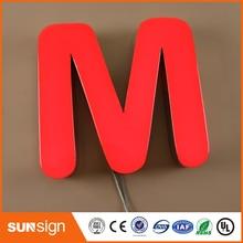 トップ品質led顔点灯ストアフロント樹脂チャンネル文字看板