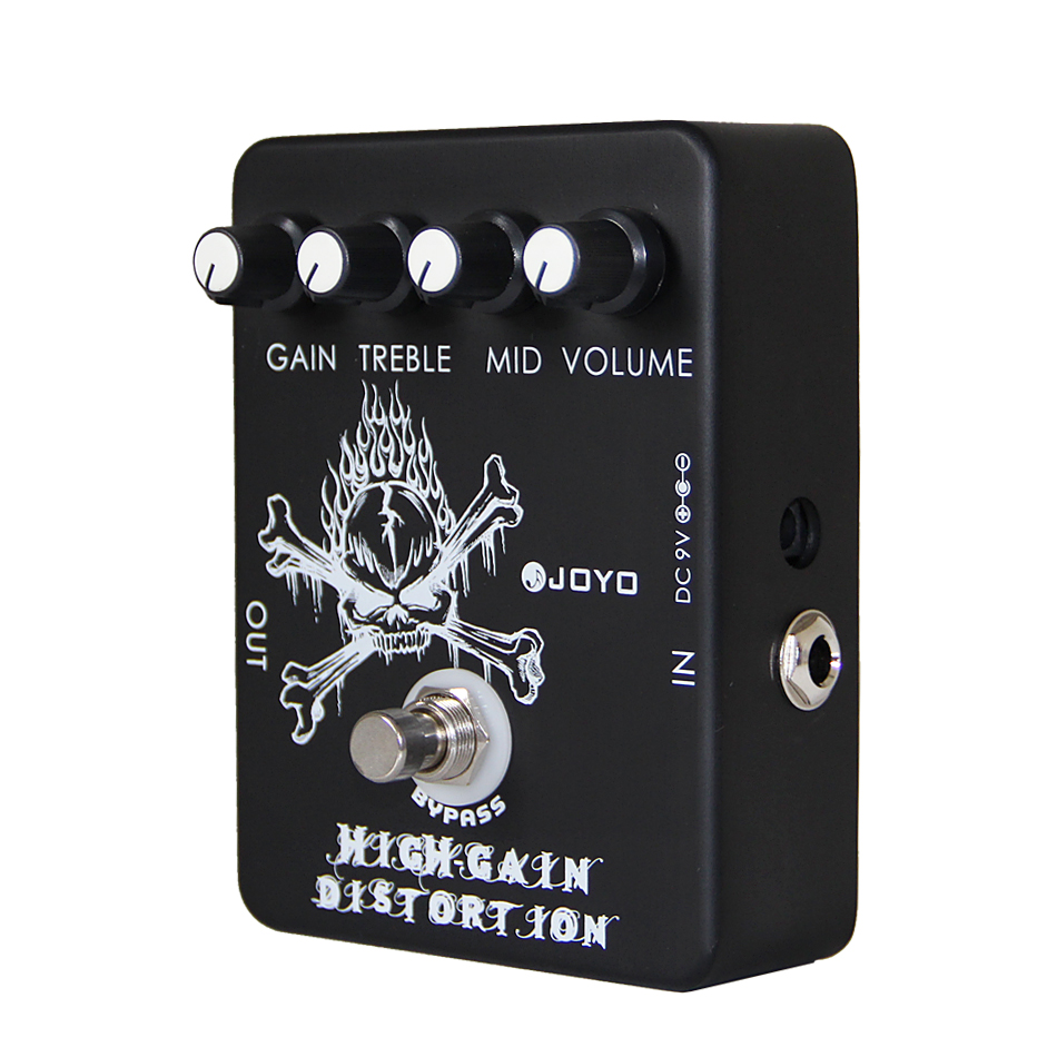 JOYO JF-04 High Gain Distortion Electric Guitar Effect Pedal True Bypass/Guitar Accessories nux hg6 distortion guitar effect pedal modern high gain effects true bypass 3 gain stages