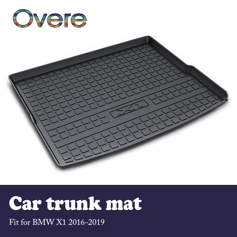 Overe 1Set Car Cargo Rear Trunk Mat For BMW X1 F48 2016 2017 2018 2019 Car-styling Waterproof Carpet Anti-slip Mat Accessories