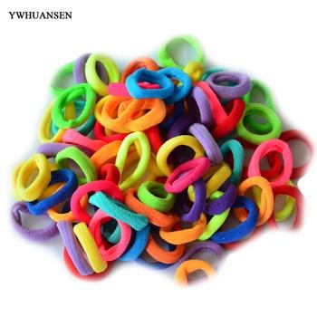 20pcs Girls Elastic hair bands Imitation Scrunchies hair ties kids Soild accessories Gum for hair bands 1