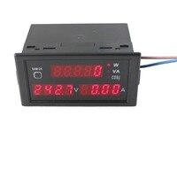 Amperímetro AC 0-100A Multi-Função de Display do Medidor De Energia Digital AC 80 V-300 V Voltímetro Amperímetro Tensão Atual ferramenta testador DL69-2048