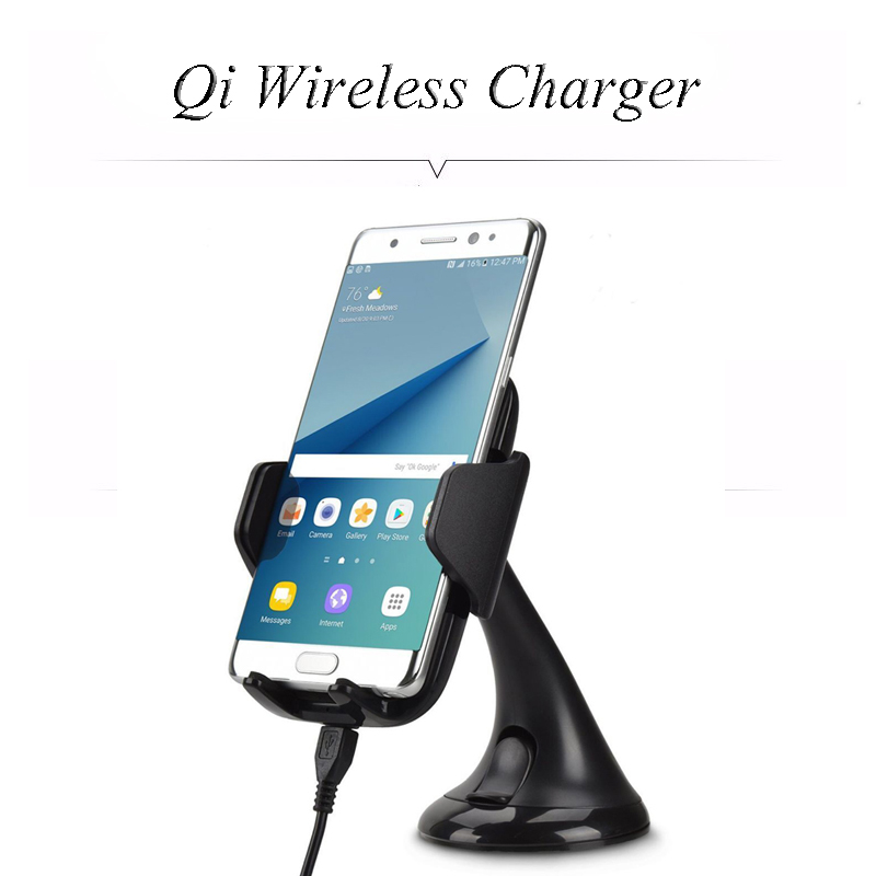 Multi Funtion Qi Wireless Charger Charging Pad Phone Holder Wireless Car Charger For Samsung S6 S7