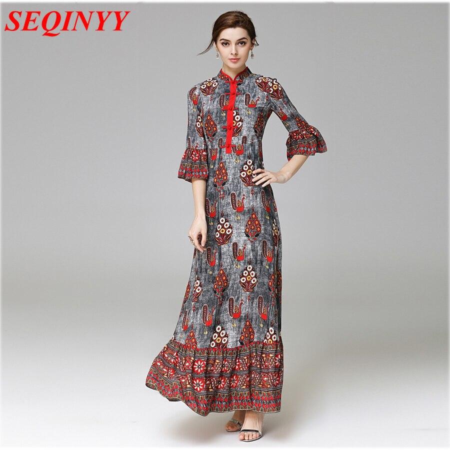 Ethnic National: National Noble Ethnic Long Dress Women Spring Summer 2017