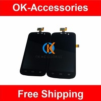 100 High Quality New For ZTE Z750C Display Touch Screen Digitizer Assembly Black Color 1PC Lot