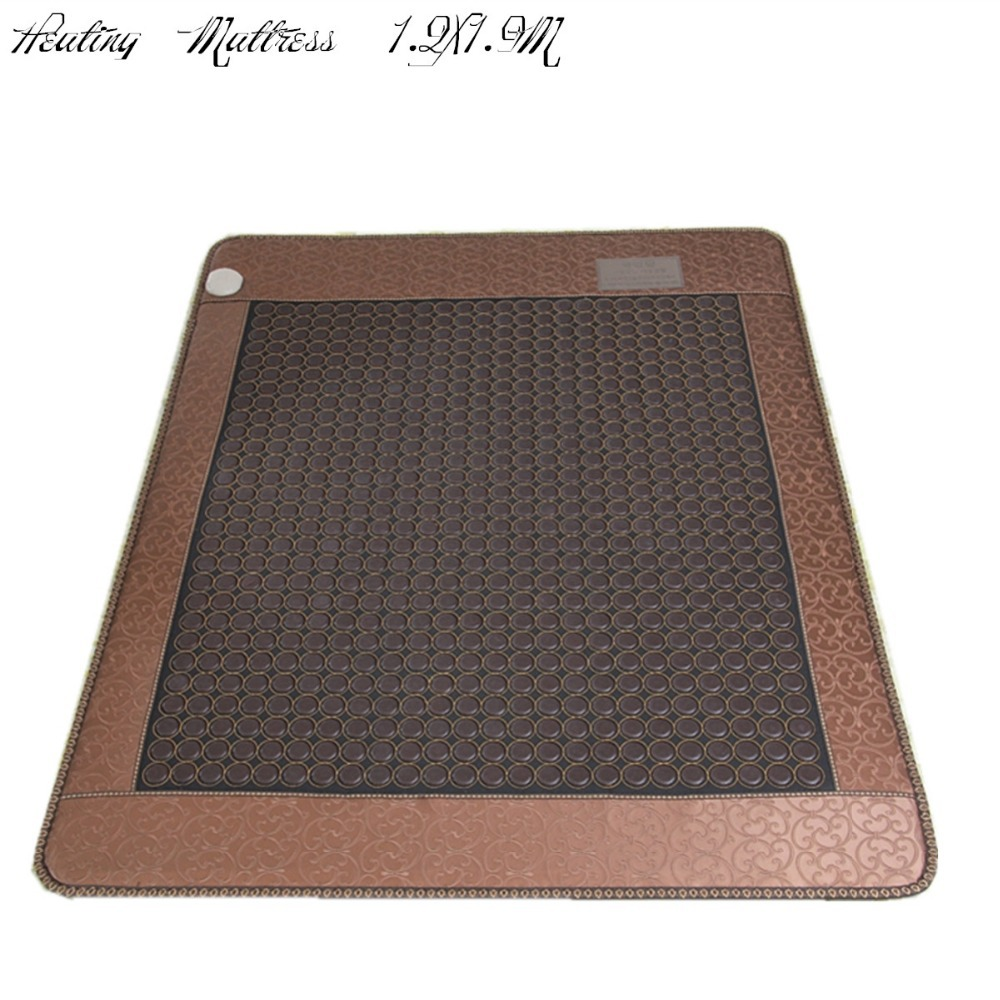 Jade heating cushion stone far infrared electric heating health massage mattress sleeping cushion Sale Free Shipping 1.2X1.9M