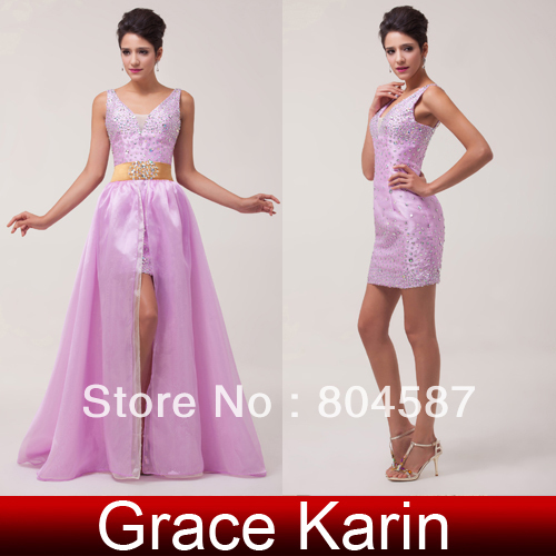 Free Shipping!Elegant Grace Karin A-line 2pcs Set Sleeveless Ball Evening  Gown Prom Party Removable Skirt Formal Dress CL6038 3a019c366251