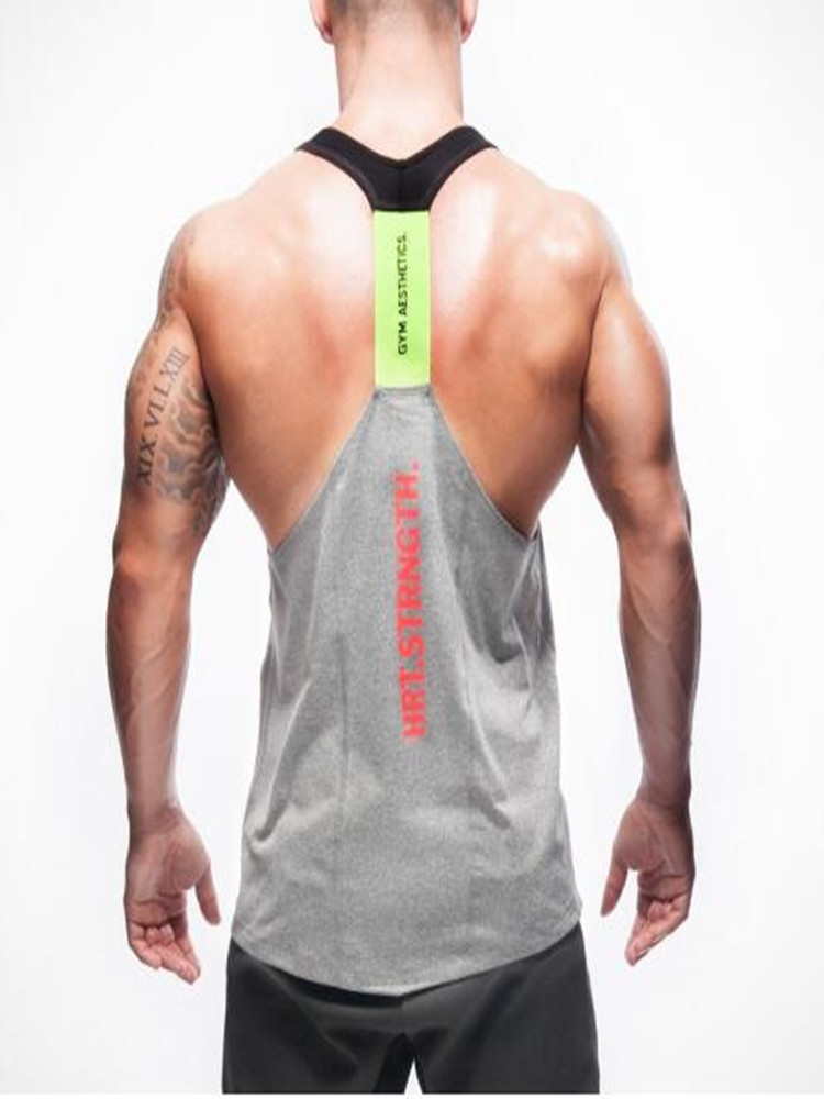 Men Splicing Stripe Sports Vest Striped Splice Large Open-Forked Male Vest for Summer Fashion!