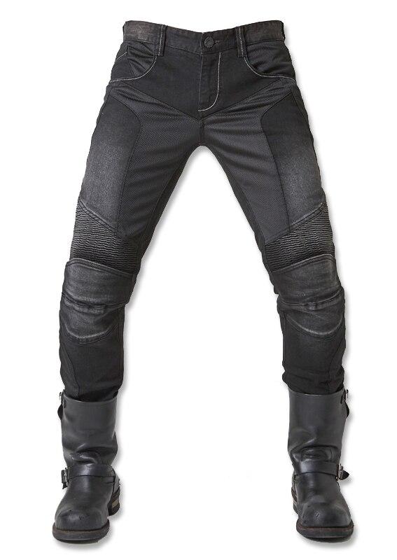 UglyBROS JUKE UBP-01 Jeans Black Summer Mesh Breathable Men's Jeans Motorcycle Protective Pants Racing Pants Moto Pants