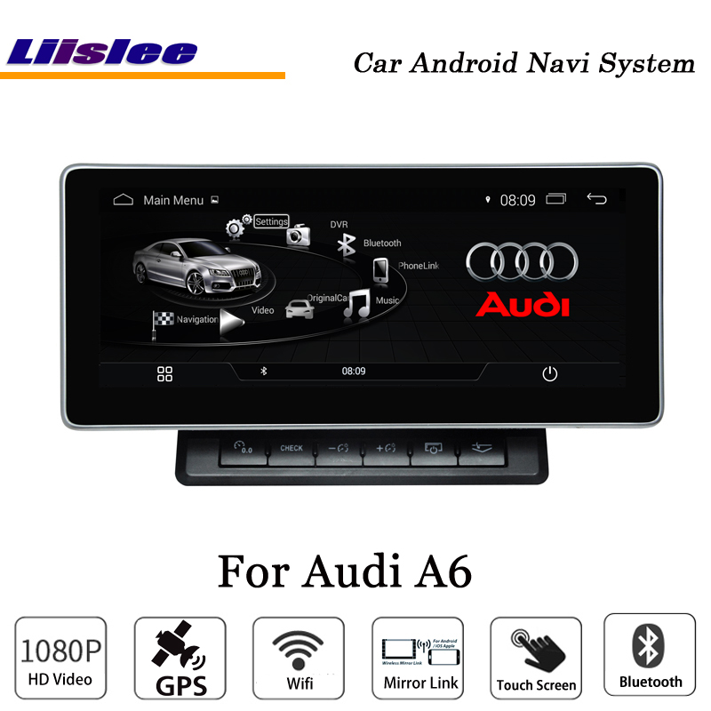 Liislee 10.25 Inch Car Android Multimedia For Audi A6 Blu ray Anti Glare Stereo Carplay GPS Navi Map Navigation Original System