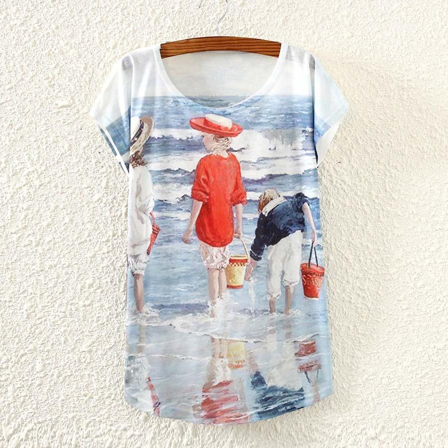 Shirt design ladies 2015 - 3d Sunflower Printed T Shirt Ladies Summer Dress Women S Top Tees 2015 The Western Fashion Design T Shirt For Girls Freeshipping