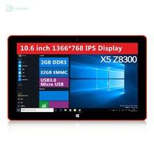 Nueva EZpad 4S 10.6 pulgadas Windwos10 2 GB / 32 GB Tablet PC Intel cereza Trail Z8300 Quad Core 1.84 GHz 1366 * 768 envío gratis