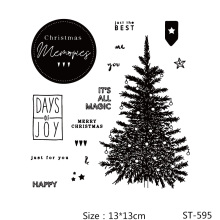 AZSG Christmas Tree Merry Clear Stamps/Seals For DIY Scrapbooking/Card Making/Album Decorative Silicone Stamp Crafts