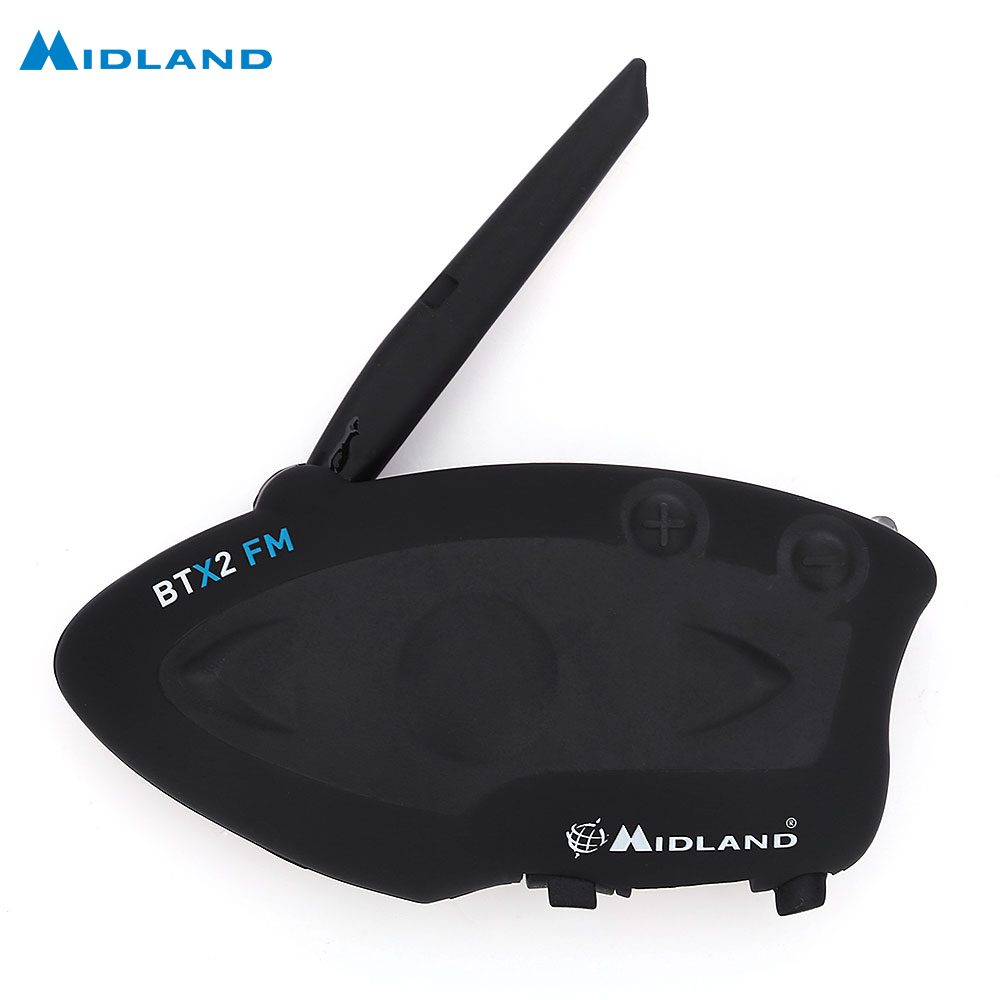 MIDLAND BTX2 FM Motorcycle Bluetooth Intercom Talking Distance 800M Multi-User Inter-Phone Connect At Most 4 People midland g3