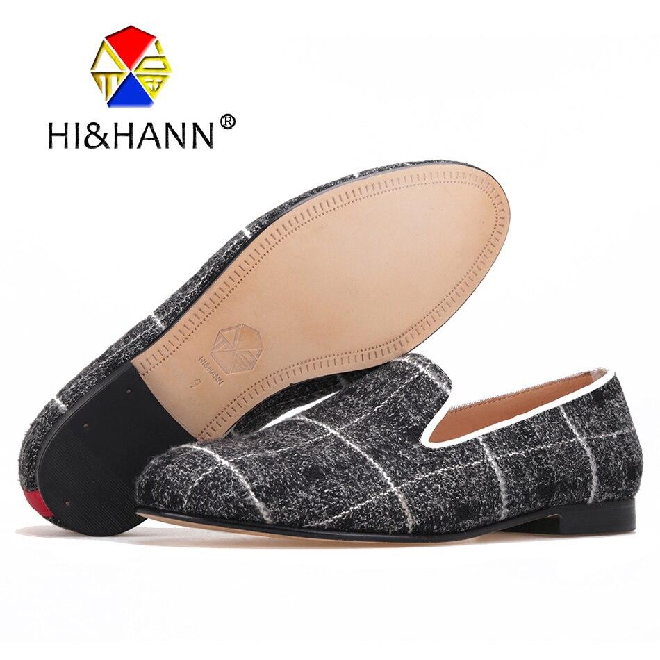 Nouveauté chaussures à la main en vichy de couleur mélangée avec semelle intérieure en cuir véritable et bas Banquest et mocassins masculins de désherbage