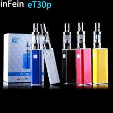 Infein et30p kit 30 w potencia variable de mod cigarrillo electrónico atomizador de control de flujo de aire ajustable 2200 mah batería mod mini niebla