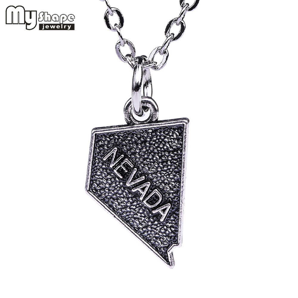 My Shape Simple Design Geography Necklace 1pcs Outline Nevada State Necklace American Map Necklace Charm Usa Necklace State Necklace Usa Necklacemap Necklace Aliexpress