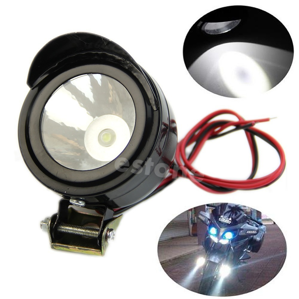 New Universal Electric Motorcycle Lamp LED Fog Spot White Light Headlight 12V