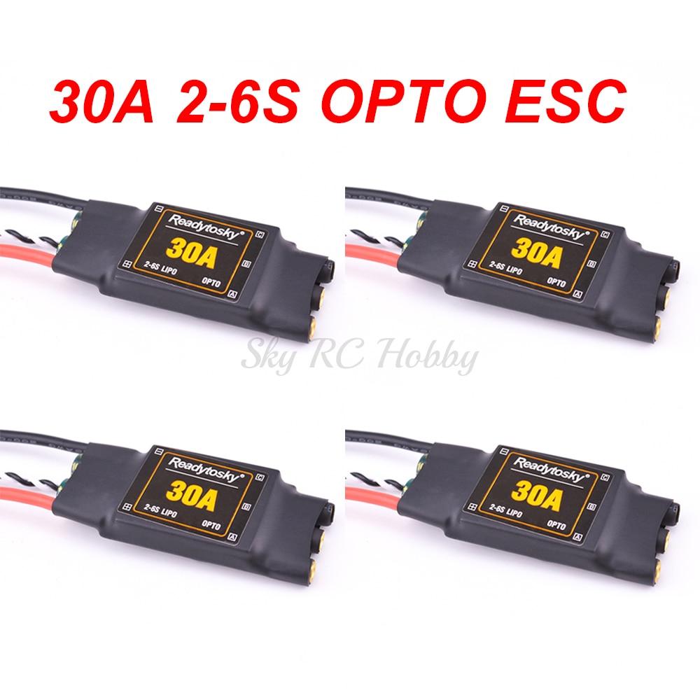 30A ESC 2-6S ESC البصرية الإلكترونية سرعة تحكم مع 3.5 مللي متر الموز موصل ل F450 S500 X500 مولتيكوبتر