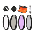 52mm 55mm 58mm 67mm UV CPL FLD ND4 Neutral Density Photography Filter Kit For Canon Nikon Sony Fuji DSLR with Camera Accessories