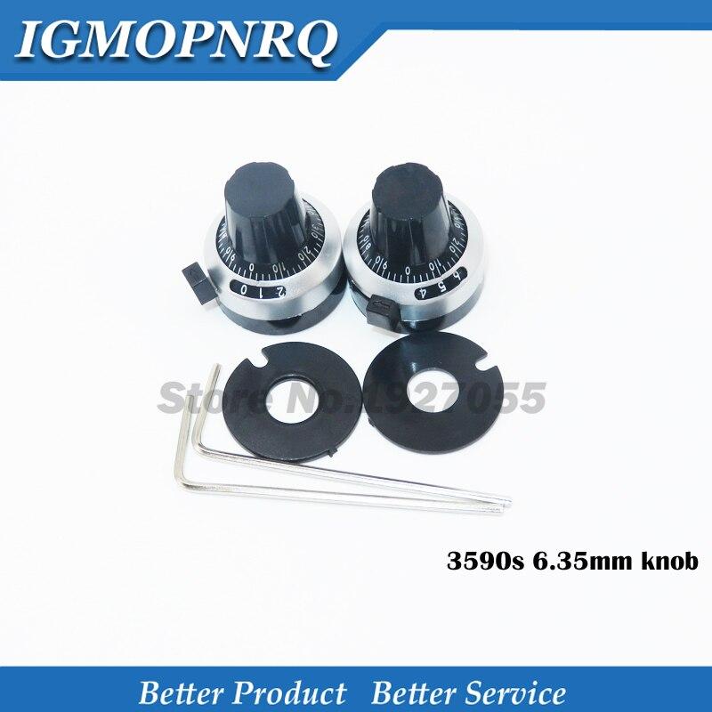 WXD3-13 3590S 6.35mm Potentiometer Precise Dial Knob Lockable Hat New Original