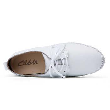 O16U Summer women Espadrilles ballet flats shoes Leather Lace-up soft comfortable ladies casual shoes peach white black B16
