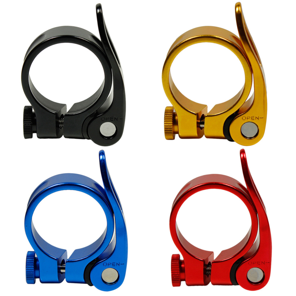2017 Hot Road Bike MTB Seat Post Clamp Cycling Saddle Quick Release Alloy 34.9mm Wholesale