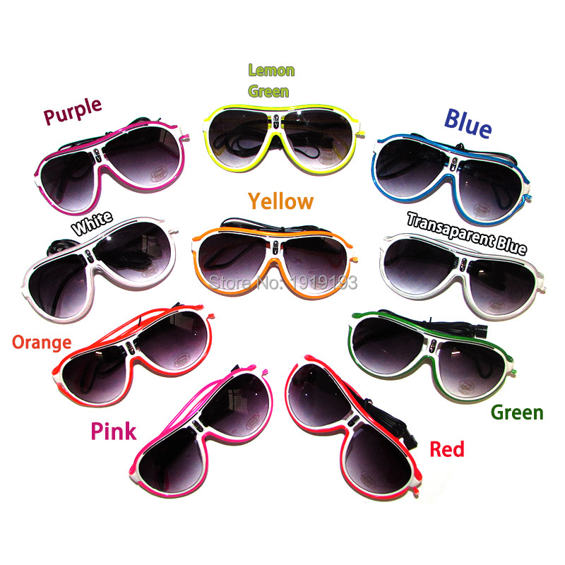 New Arrival Fashion TV Show Decor Glittery Neon Led Strip Twinkle Glasses Light Up EL Wire Rope Lovely Sunglasses for Concert watching tv film and television entertainment tv enlarge glasses reading glasses concert telescope fishing glasses