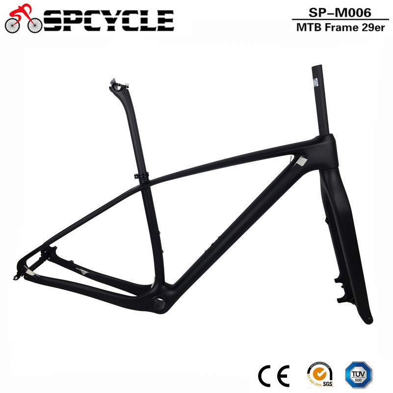 2018 Newly UD Matte 29ER Full Carbon MTB Bike Frame 142*12mm Mountain Bicycle Frameset With 100X15mm Axle Fork And Seatpost
