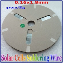цена на 0.16*1.8mm 295m/Kg Solder Tabbing  Wire, Lead-free Tin-coated PV  Ribbon  for Solar Cells Soldering