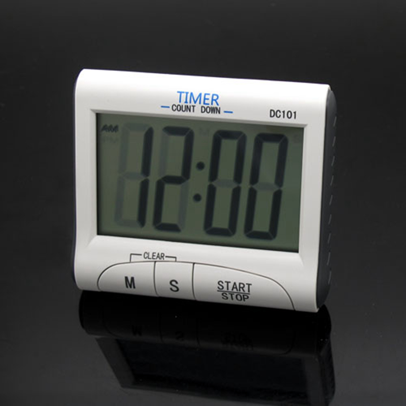 LCD Multifunctional Digital Cooking Kitchen Countdown Timer Mini Count Down Timers (12/2 ...