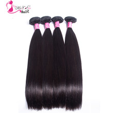 MS CAT HAIR 100% Human Hair Extension Malaysian 4 Bundle Straight Hair Bundles/Weave Double Weft Non-remy 8''-28'' Bundles Deals(China)