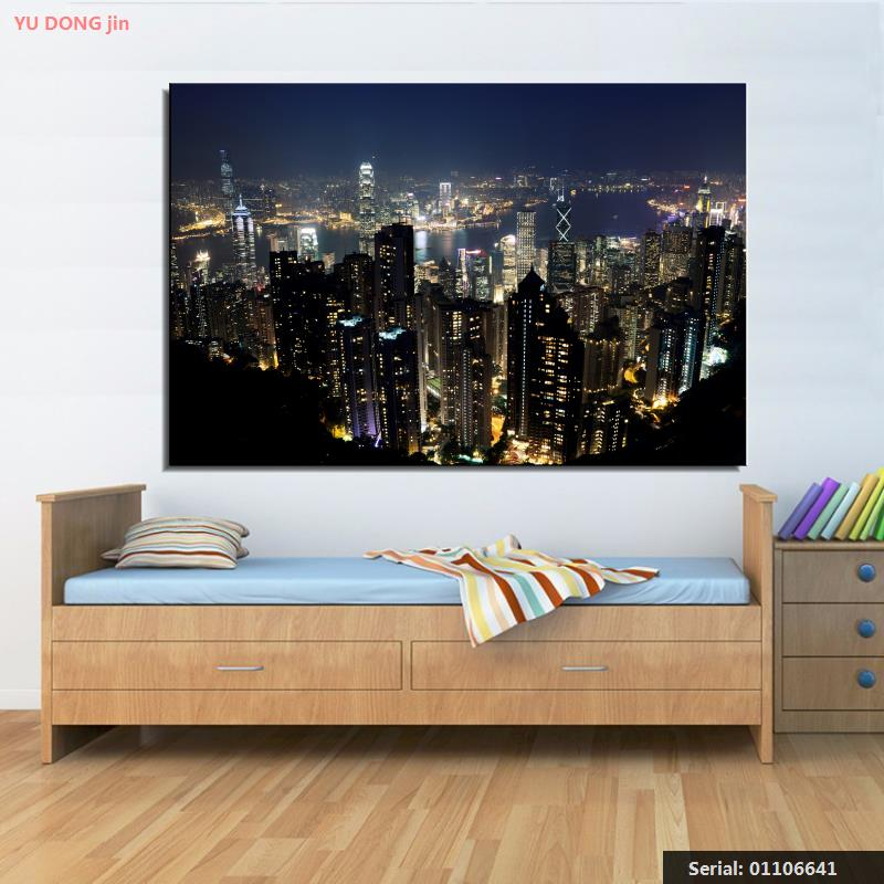 Intellective City Night Scene Still Life Modern Oil Painting Drawing Art Spray Unframed Canvas Wine Children Miniature Hologram01106641 Invigorating Blood Circulation And Stopping Pains Home & Garden