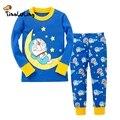 Crianças Doraemon Roupas Top + Calça 2 pcs Pijamas Crianças Pijamas Natal Meninos Dinossauro Pijamas Asseclas Pijama Completo Manga